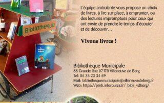 Bibliothèque Ambulante – Marché de Villeneuve de Berg