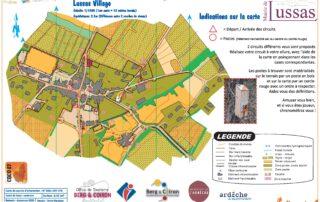 Parcours permanent d'orientation à Lussas - Panneau récapitulatif