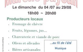 Marché à  Saint Maurice d'Ibie