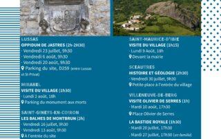 Visite des Balmes de Montbrun