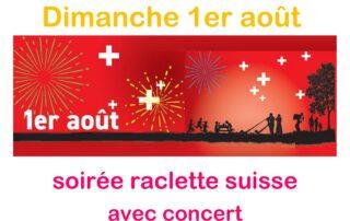 Soirée raclette Suisse avec concert au Camping les Lavandes
