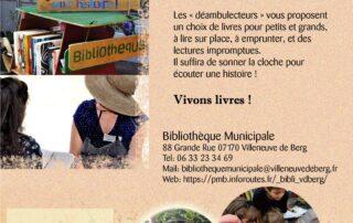 Les déambulettes - Bibliothèque Ambulante à Villeneuve de Berg