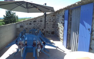 Gite Les Bombyx - Terrasse