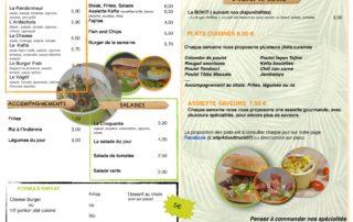 L'Atipik - Food Truck - Carte