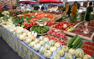 Marché des produceurs à Lagorce