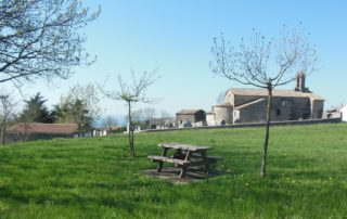 Picnic area in Saint Gineis en Coiron village