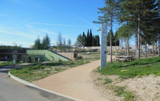 Picnic area of Villeneuve de Berg