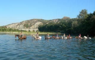 Traversée à cheval des 3 rivières