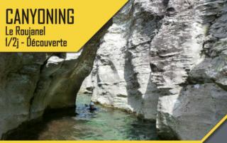 Canyoning -Le Roujanel – 1/2 Journée Découverte avec le BMAM
