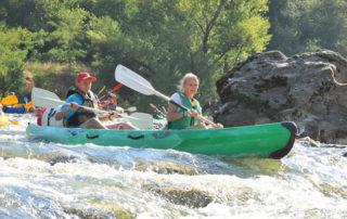 Canoë - Kayak de Châmes à Saint Martin d'Ardèche - 24 km / 1 jour avec l'Arche de Noé