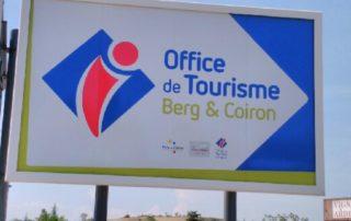 Panneau Office de Tourisme Berg et Coiron