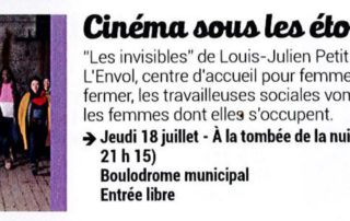 """Open air cinema with the movie """"Les invisibles"""""""