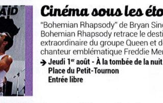 "Open air cinema with the movie ""Bohemian Rhapsody"""