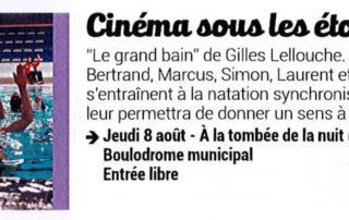 "Open air cinema with the movie ""Le grand bain"""