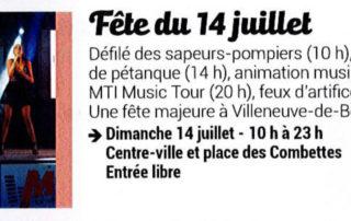 Fête du 14 juillet à Villeneuve de Berg