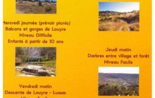 Nature en Chemin - Randonnées accompagnées 2019 - en détail
