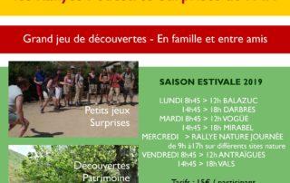 Programme d'été Rallye pédestre surprise