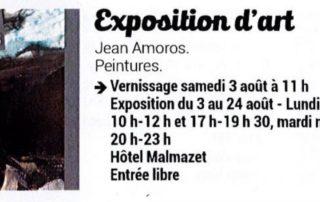 Exposition de Jean Amoros