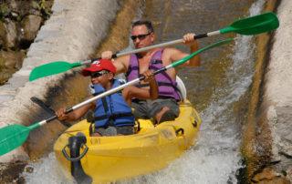 Canoë – Kayak de Sampzon à Châmes – 13 km avec Canoës Service
