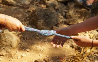 Via corda + descente en rappel