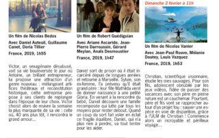 Programme cinéma de Lussas - Janvier 2020