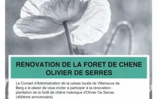 Rénovation de la forêt de chêne Olivier de Serres
