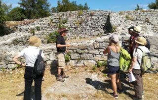 Visite guidée menée par Michel BOYER, oppidum de Jastres-Nord, 2019