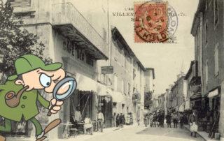Carte postale ancienne retouchée...