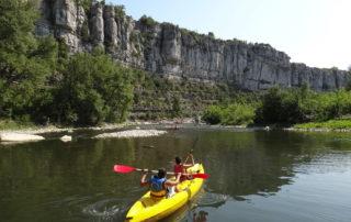 Canoë encadré – mini descente 7 km (½ journée) avec Kayacorde