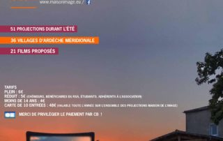 """Open air cinema with the movie """"Donne-moi des ailes"""""""