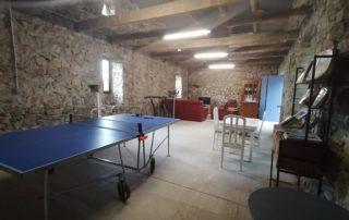 Salle commune du Mas d'Ambre à St Germain