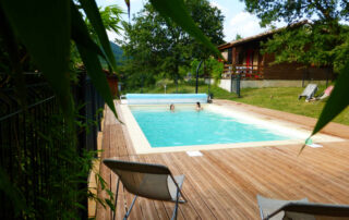 Chalet 2/4 people perfect for families, nature, swimingpool, nordic bath