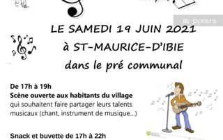 Fête de la musique à St Maurice d'Ibie